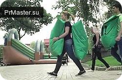Подушка безопасности не для автобомилиста, а для пешехода!