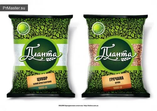 Новый экобренд - дизайн упаковки для сахара и круп ТМ «Планта»