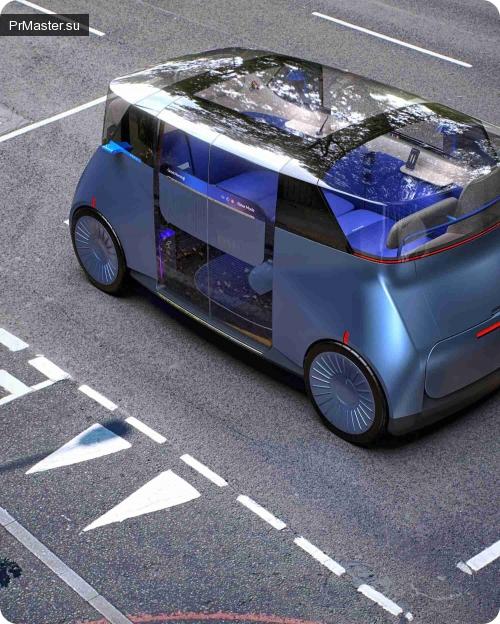 Ведущая дизайнерская компания PriestmanGoode обнародовала свое видение будущего автономных транспортных средств